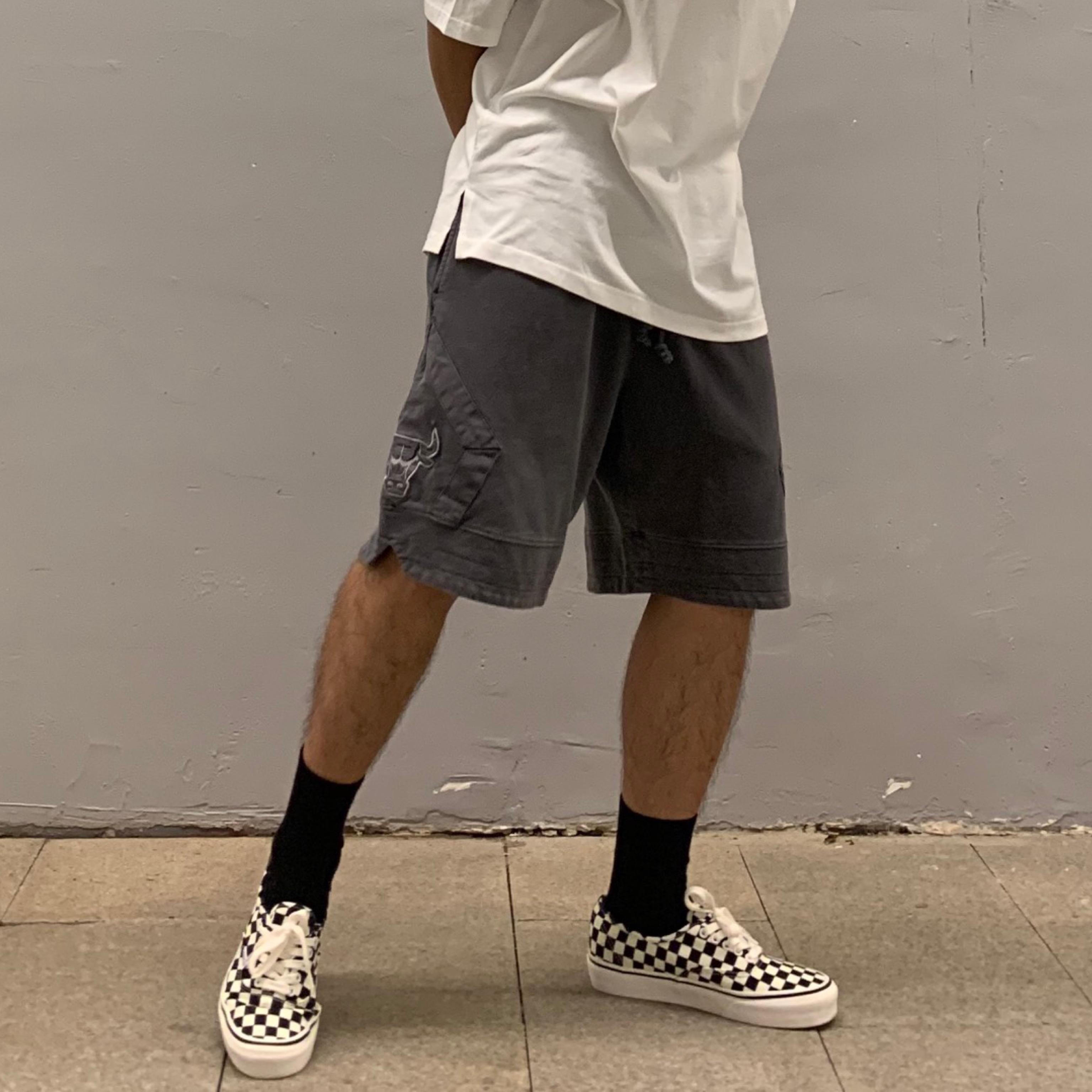 TREND lỏng hip-hop retro giặt quần bò cũ thêu thêu thủy triều thương hiệu quần nam và quần nữ - Quần short