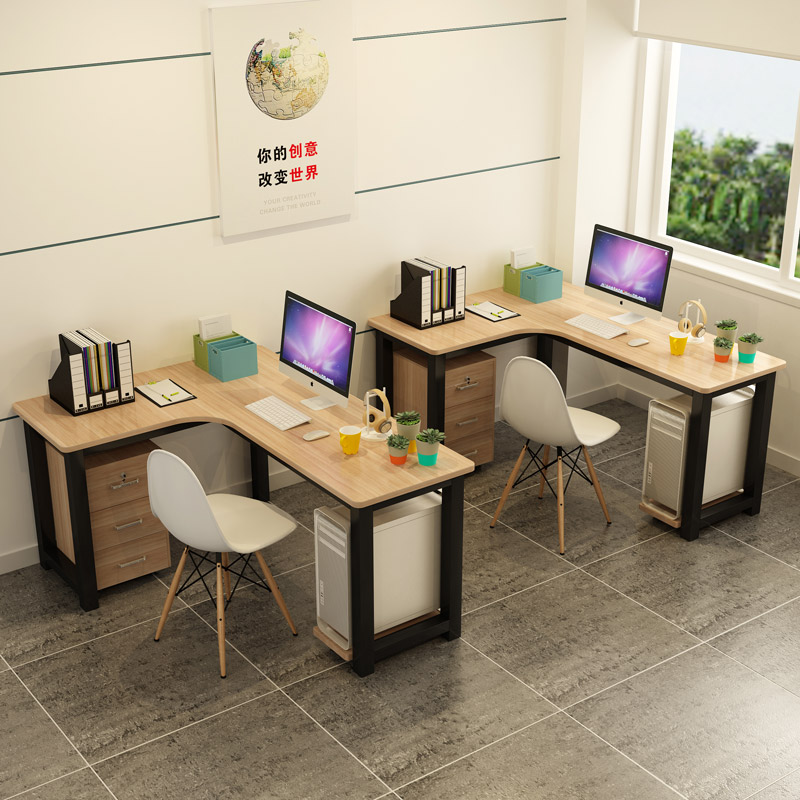 Corner Office Desk Desktop Computer Desk Corner L Type Single Simple Modern  Work Staff Combination