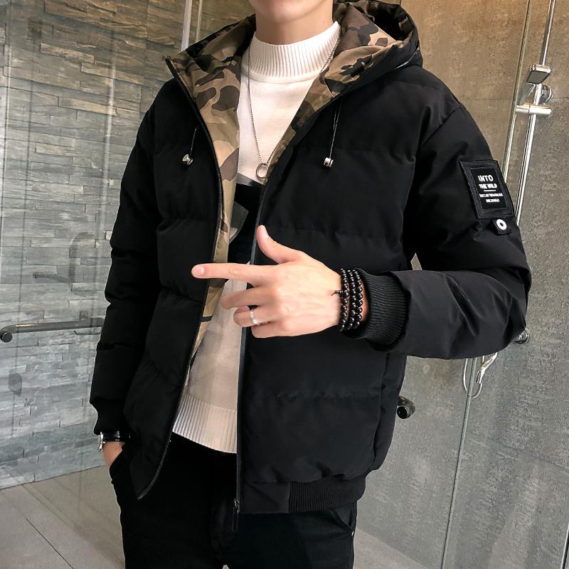 男士外套冬季棉衣2018新款韩版羽绒棉服修身潮流男装加厚冬天棉袄