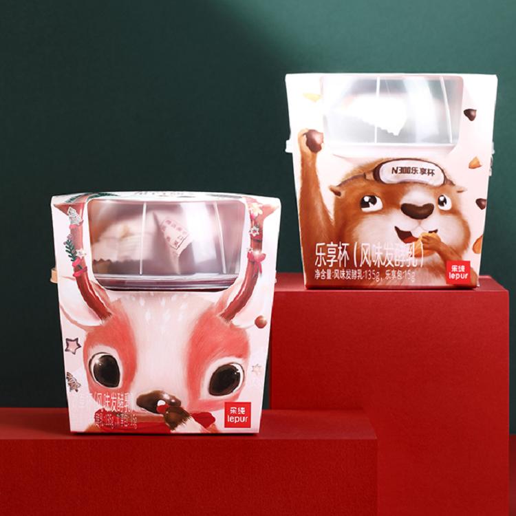 乐纯酸奶乐享杯高蛋白营养代餐益生菌浓缩坚果低温希腊酸奶12盒