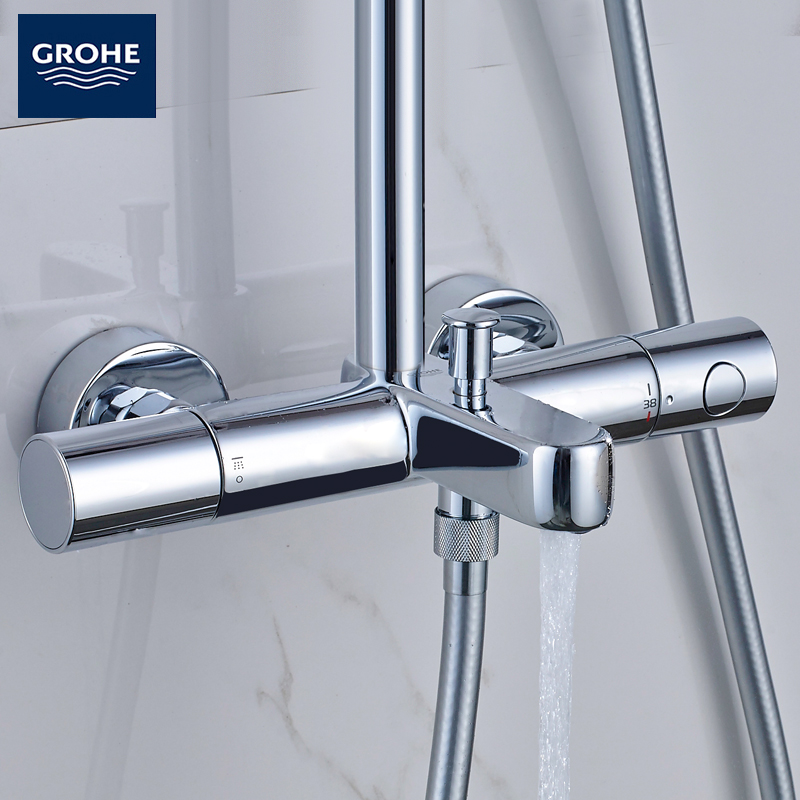 GROHE Germany Grohe 210 one double shower thermostat faucet shower ...