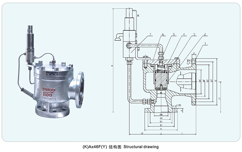 A46Y A46F Flanged type Pilot operated safety valve parts