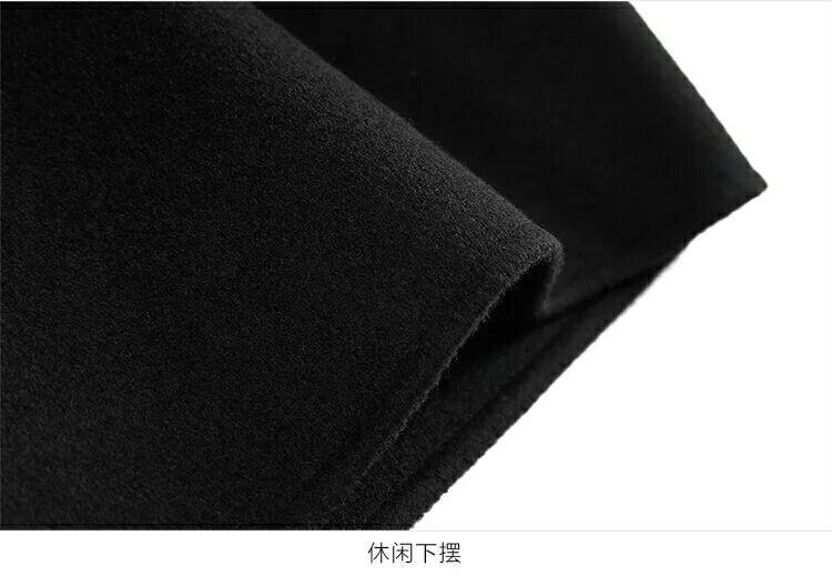 B1AA74101 dày hai mặt cashmere áo nam ve áo đơn ngực làm bằng tay đôi phải đối mặt với áo len chống mùa