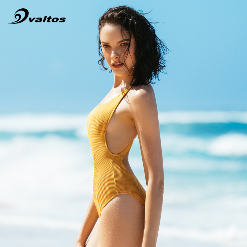 d560d7dbd1b74 valtos one-piece swimsuit small chest gather cover belly was thin swimsuit  sexy halter swimsuit European and American swimsuit female