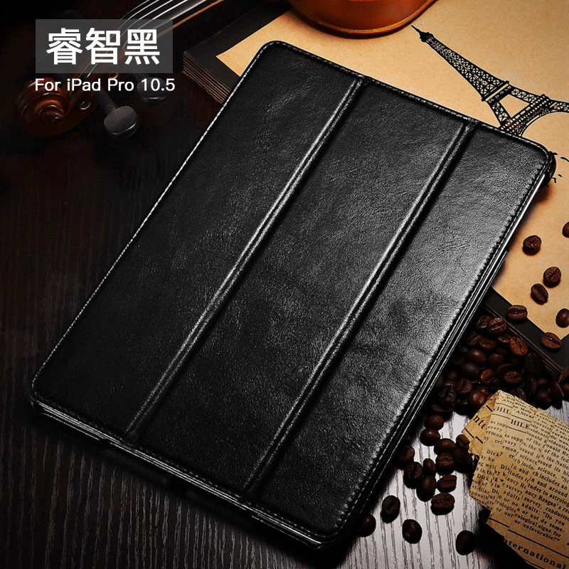 iCarer Vintage Series Smart Awakening Handmade Genuine Cowhide Leather Case Cover for Apple iPad Pro 10.5-inch