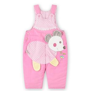 【特价亏本清仓】婴儿加厚背带棉裤冬季棉服女宝宝两用裆长裤子