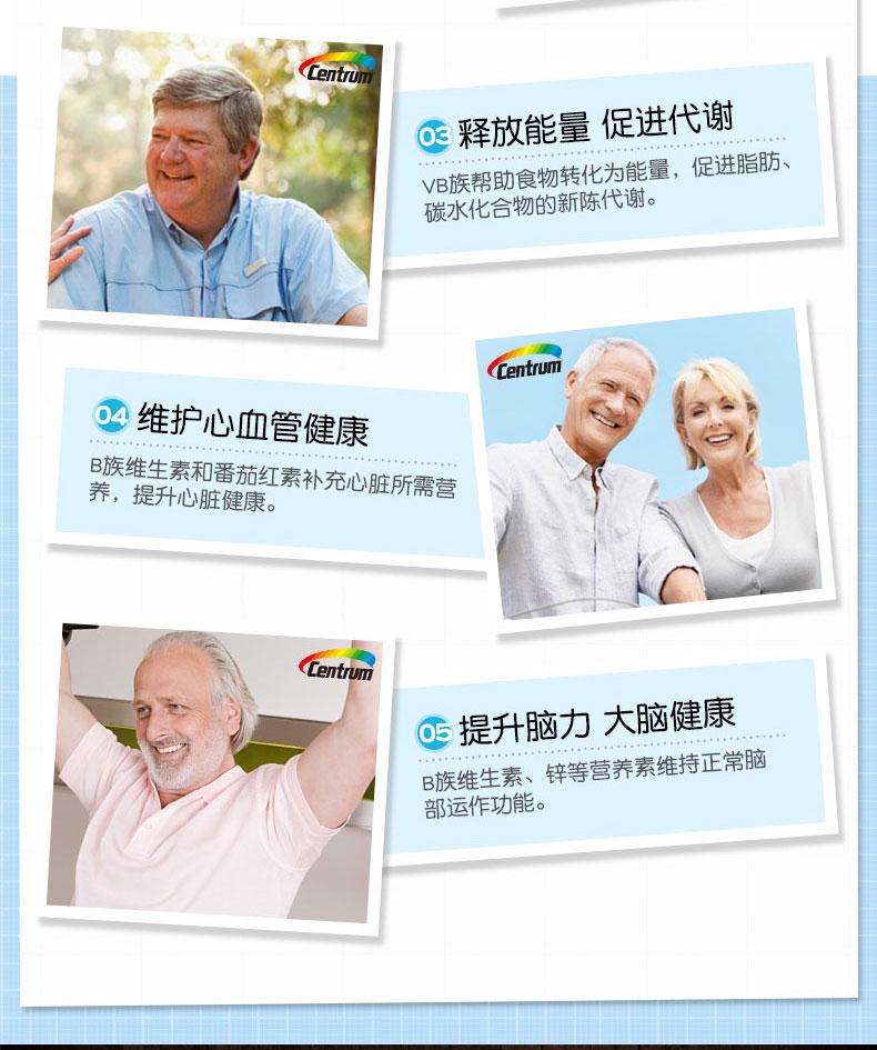 美国进口 善存 中老年复合维生素 男性200片+女性200片 图6
