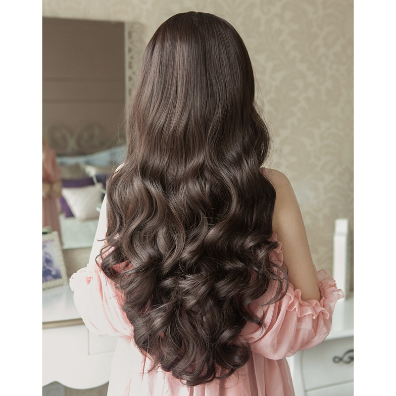 Half Head Set Wig Women S Large Wavy Long Curly Hair Natural Korean Fashion Women S Hair Long Curly Hair Set