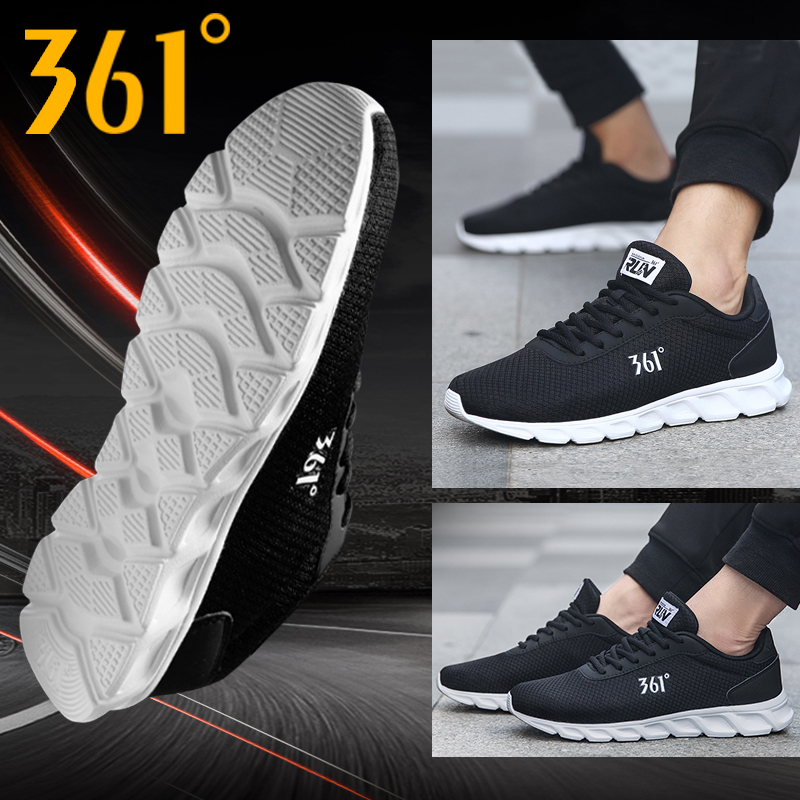 361 Degree Black Casual Sneakers