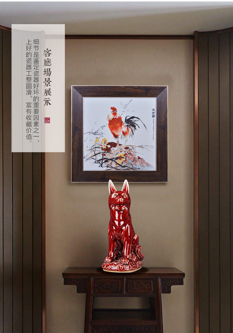Jun porcelain of jingdezhen ceramics new sitting room decoration rich ancient frame study desk of Chinese style household furnishing articles