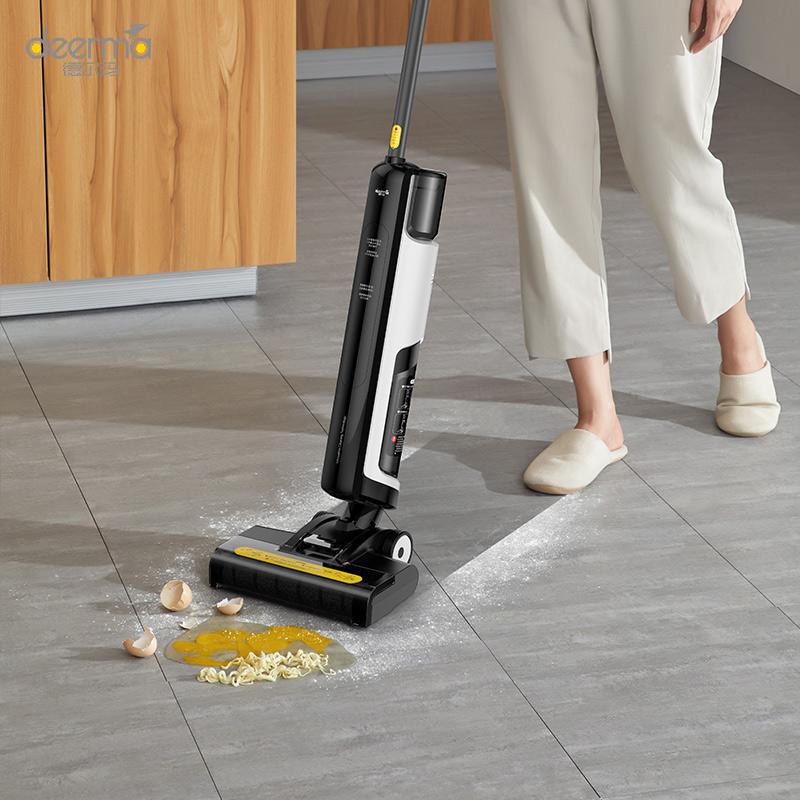 【预定送干手器】德尔玛洗地机吸拖一体吸尘器家用扫地洗拖地一体