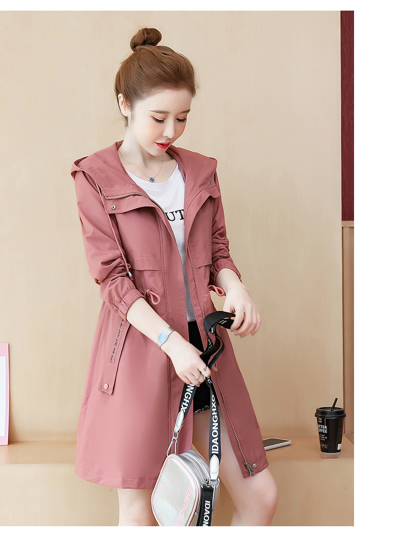 2020 Spring and Autumn new Korean version of the long-term waist fashion casual small man a hundred and Eight months windcoat jacket girl 57 Online shopping Bangladesh