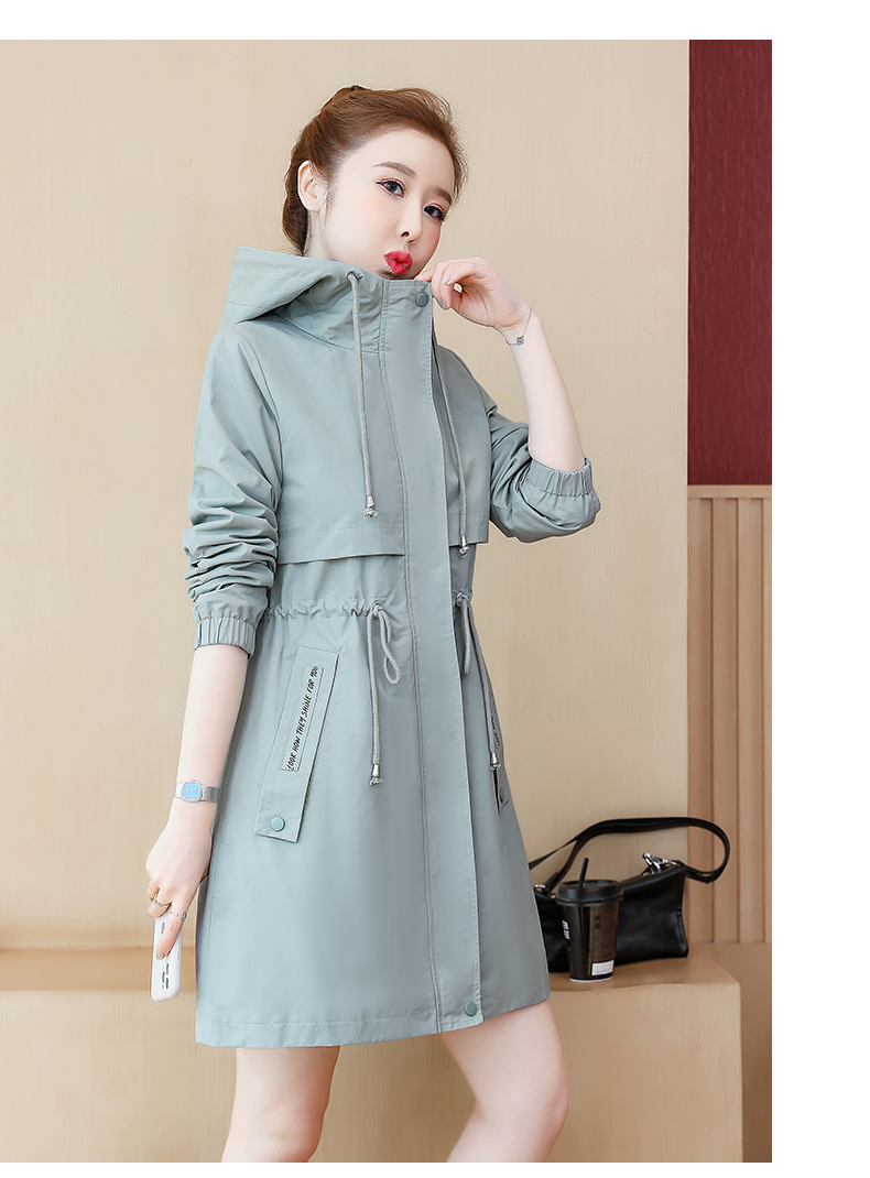 2020 Spring and Autumn new Korean version of the long-term waist fashion casual small man a hundred and Eight months windcoat jacket girl 63 Online shopping Bangladesh