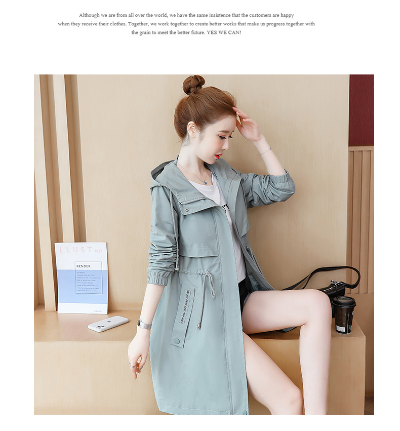2020 Spring and Autumn new Korean version of the long-term waist fashion casual small man a hundred and Eight months windcoat jacket girl 62 Online shopping Bangladesh