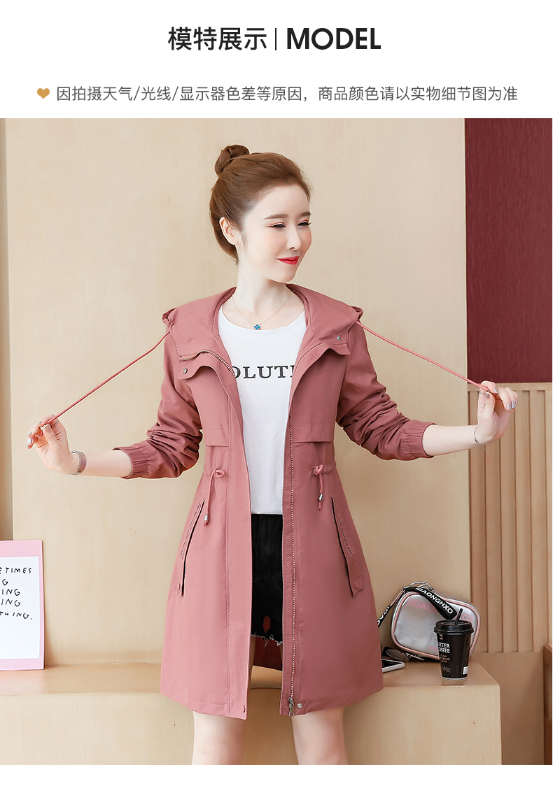 2020 Spring and Autumn new Korean version of the long-term waist fashion casual small man a hundred and Eight months windcoat jacket girl 53 Online shopping Bangladesh