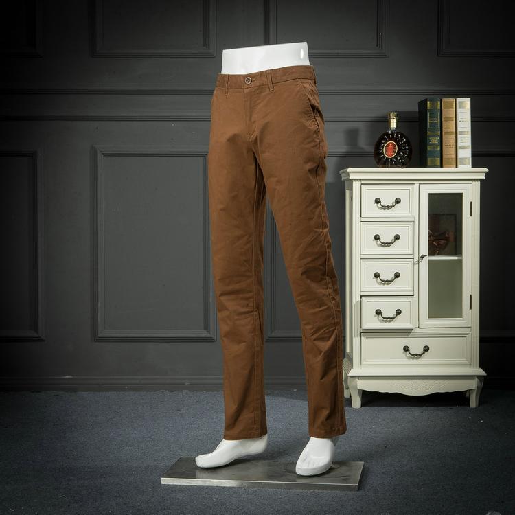 Trong nước duy nhất cắt tiêu chuẩn quần âu mùa xuân và mùa thu hoang dã thanh niên quần âu đơn giản overalls quần của nam giới