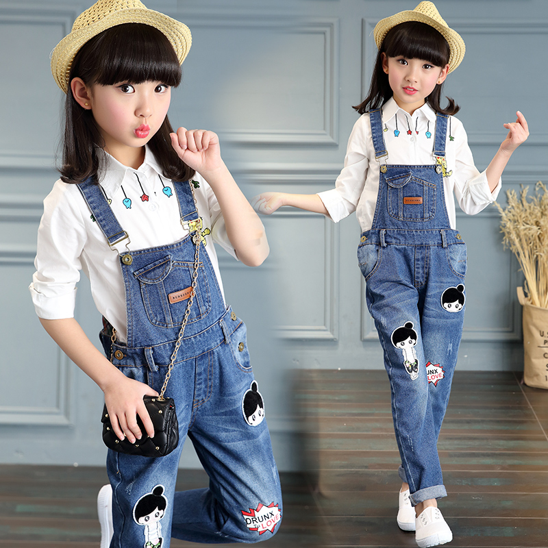 Girls autumn jeans jeans in the children 6677888111112-13 years old schoolgirl children's pants
