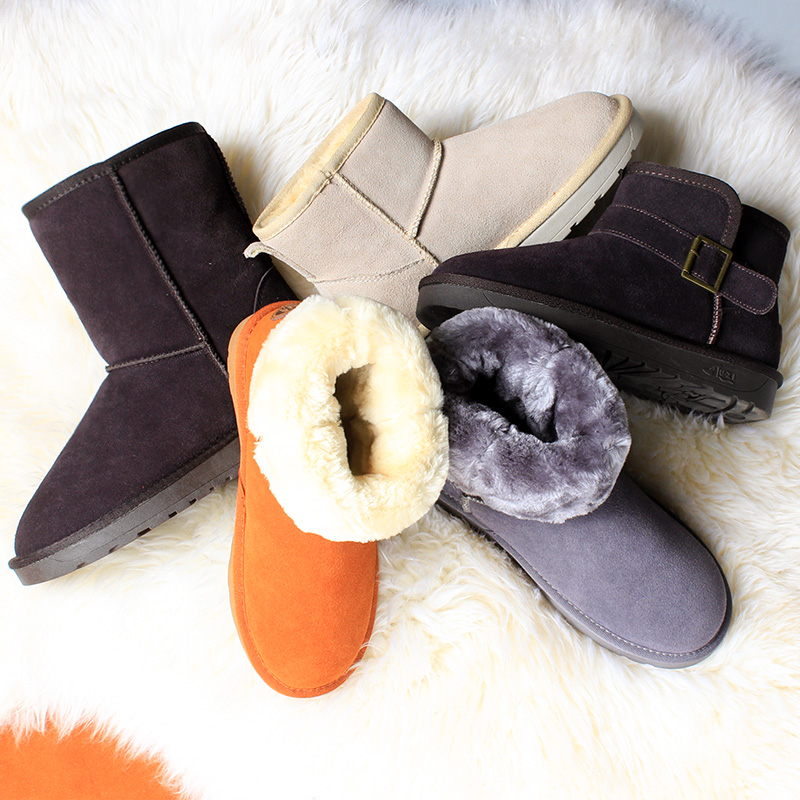 Foot short tube snow boots female leather Korean students thick large size male couple in the tube short boots cotton shoes female winter
