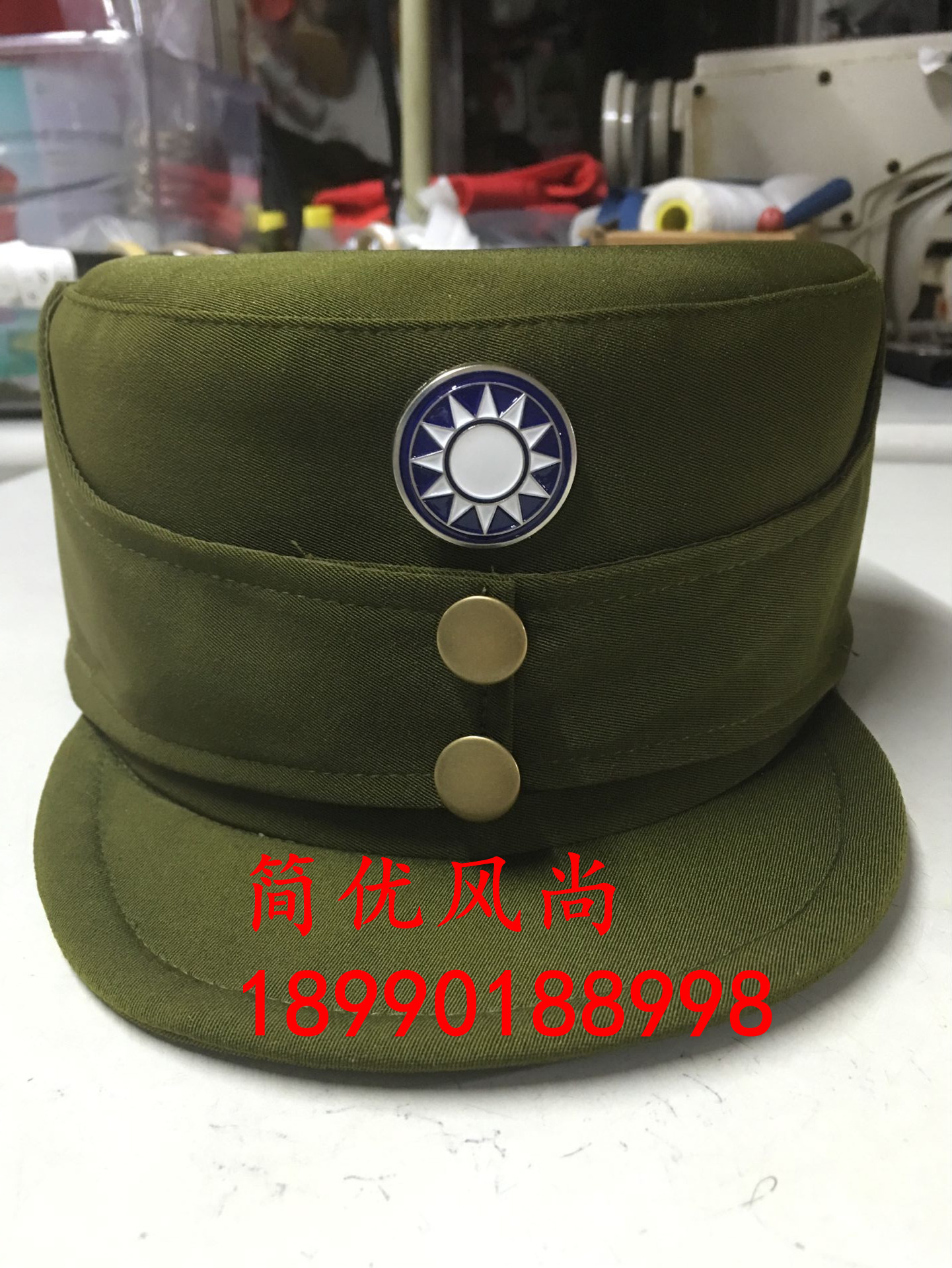 National Military hat national cap Republic of China military cap National  Military cap stage performance cap cap male and female soldiers general ... 271f47ddcc4