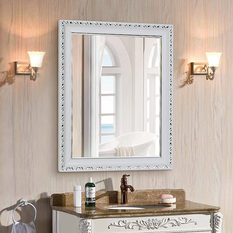 Простой ванная комната зеркало с коробкой зеркало ванная комната зеркало ванная комната зеркало ретро зеркало соус зеркало континентальный настенный зеркало соус