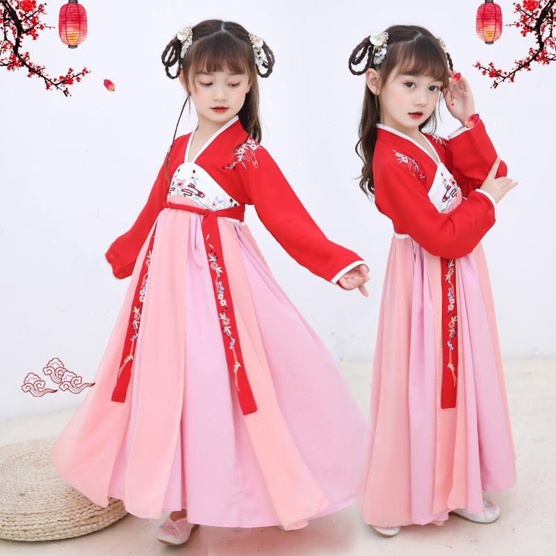 秋季儿童汉服女童中国风古装仙女裙