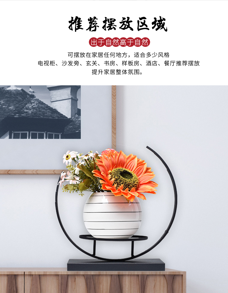 Floret bottle furnishing articles sitting room dry flower arranging flowers Nordic light ceramic TV ark, contracted and I household act the role ofing is tasted much wine