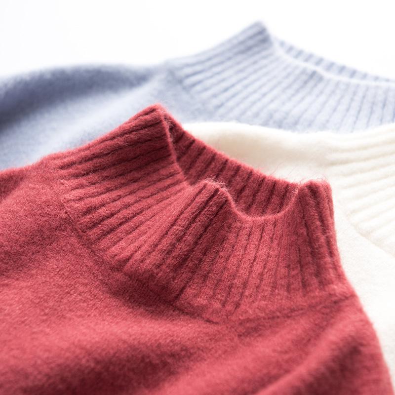秋冬女装韩版复古条纹撞色宽松显瘦长袖针织衫外穿学生套头毛衣潮