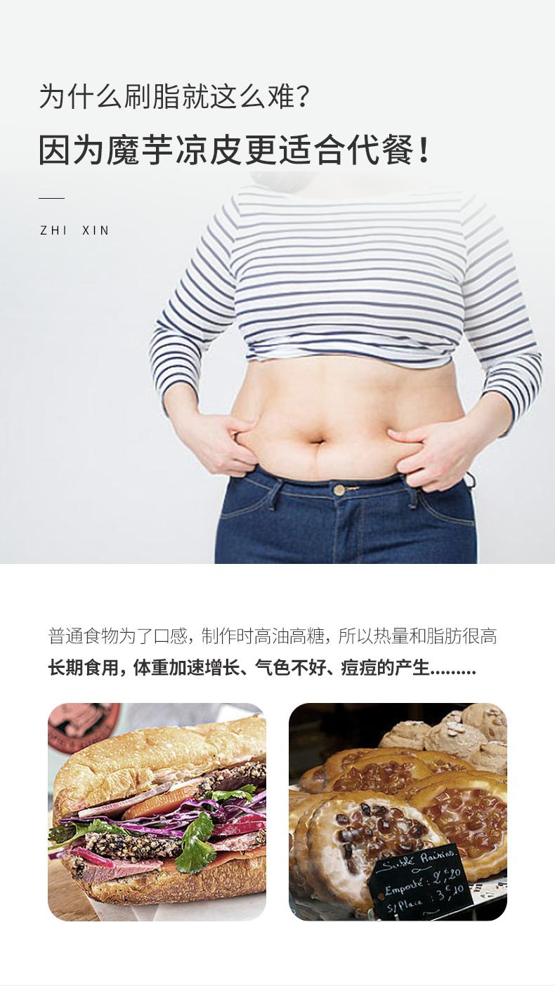 魔芋面凉皮丝低脂肪代餐热量卡即食低脂饱腹主食宿舍速食零食品详细照片