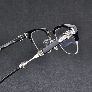 New pure titanium plate glasses frame big cross half-frame glasses frame nearsighted glasses frame male flat light mirror boomers