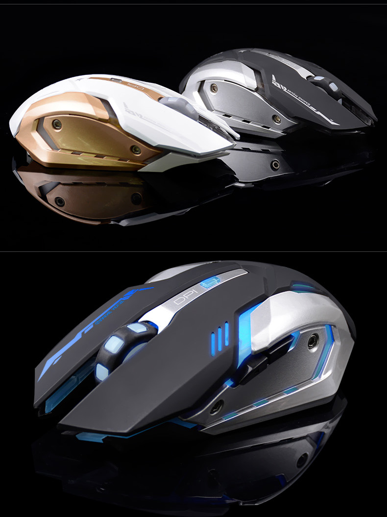 Rechargeable Wireless Gaming Mouse 3200 DPI Adjustable 7 Color Backlight Breathing Gamer Mouse Game Mice for PC Laptop