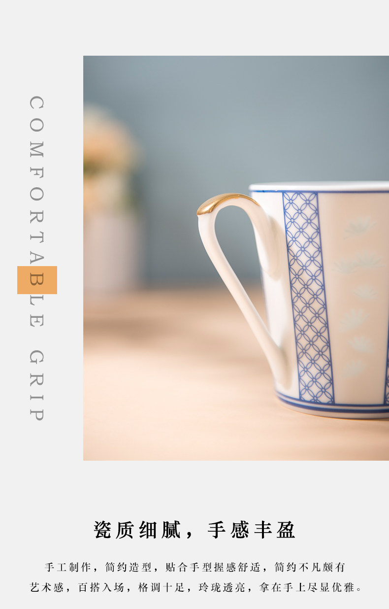 Jingdezhen porcelain cups of jade cypress ceramic cups and exquisite coffee cup by patterns of creative mugs customization