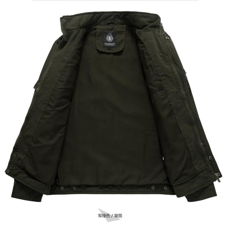 CHÚNG TÔI lực lượng đặc biệt 2018 mùa xuân và mùa thu ngoài trời dụng cụ áo khoác nam lỏng thường kích thước lớn áo khoác quân sự mặc kháng bông