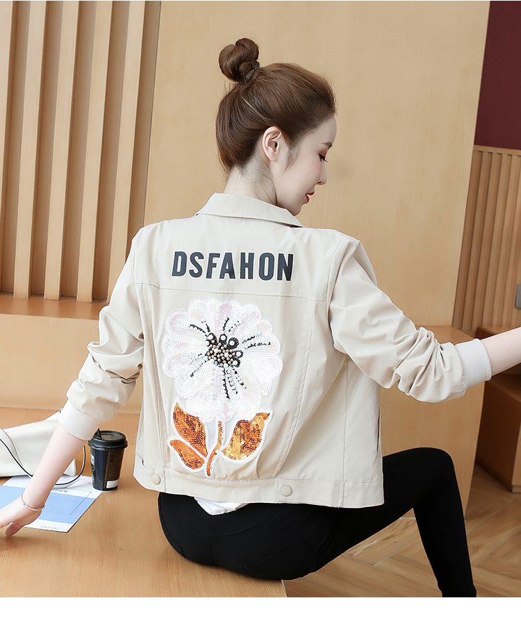 Fall 2020 New small fashion show high-length embroidered jacket lady-in-hand baseball shirt 56 Online shopping Bangladesh