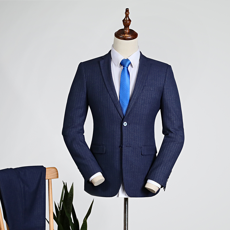 Navy Blue Pinstripe/blue [tops + Trousers]