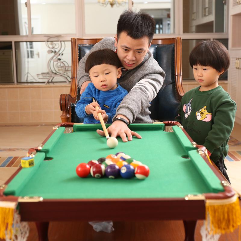 Таблица пингпонга детские Домашний родитель-ребенок мини-американский черный 8 стандартный Zhunsinuoke Бассейн детские Бильярдная игрушка