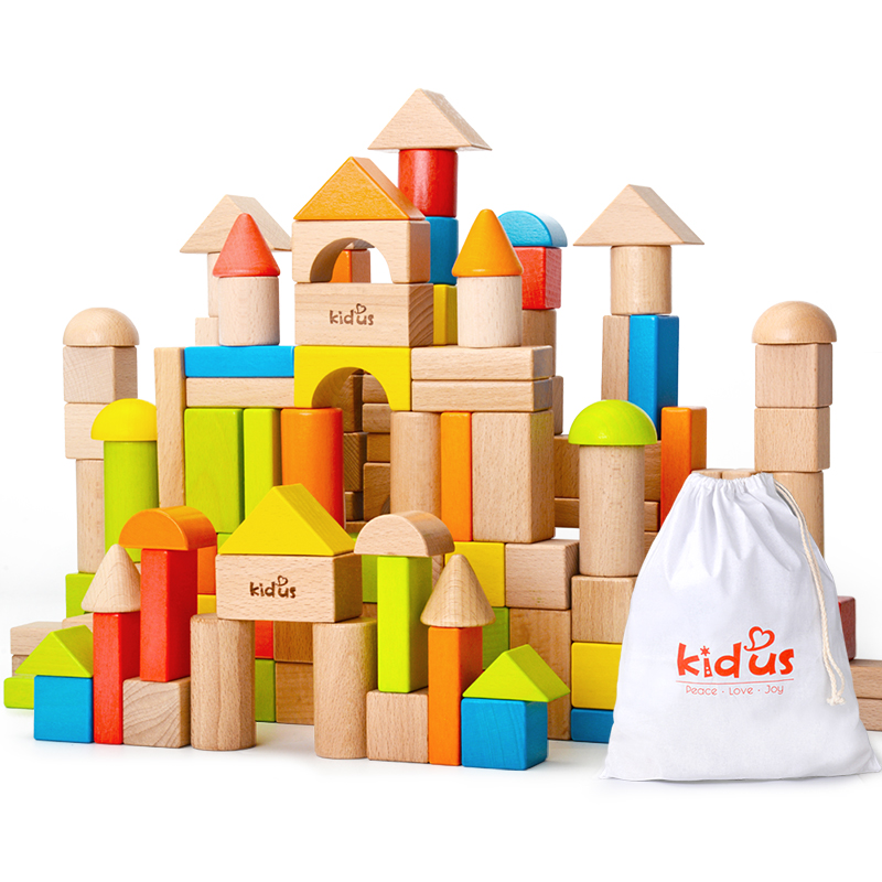 Usd 7073 Wood Building Blocks Toys 1 2 Years Old Baby Can Bite Men