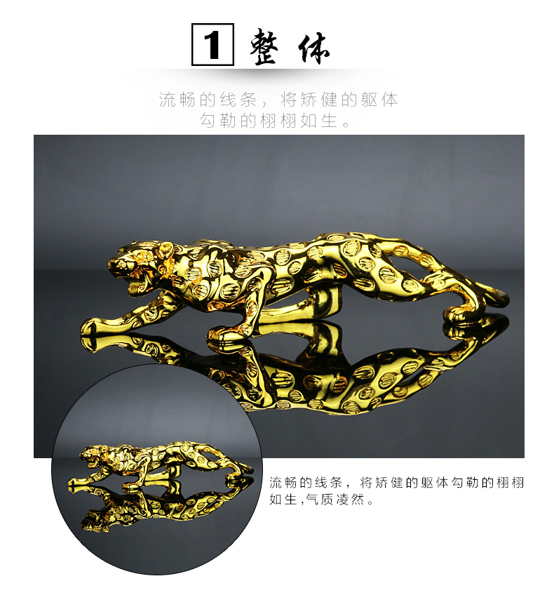 60cm Huge Bronze Collect Leopard Panther Cheetah Run Statue hot