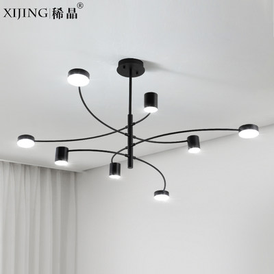 Nordic Modern Art Creative Living Room Chandelier Atmospheric Personality Simple Restaurant Bedroom LED Lighting