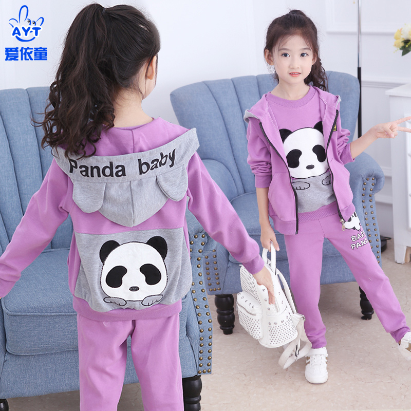 a19f20aeddd4 Children s clothing girls spring 2019 new Korean fashion children s sports suit  little girl foreign clothes Tide