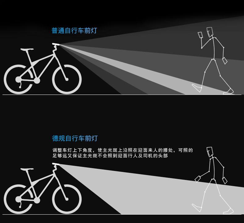 自行车灯前灯充电强光手电筒骑行装备单车灯夜骑配件灯登山车车灯详细照片