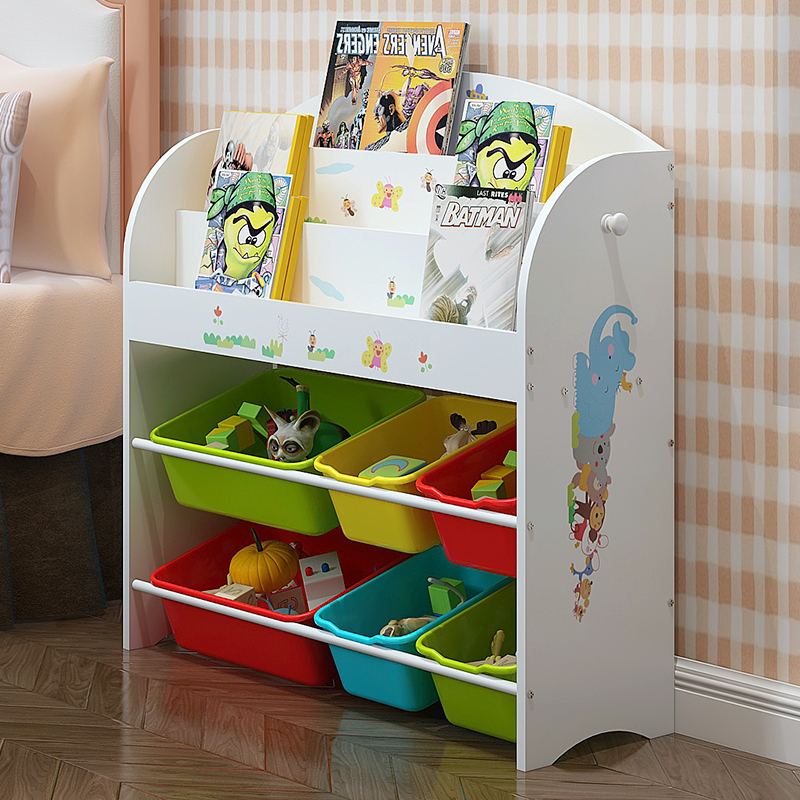 Childrenu0027s Toy Storage Rack Baby Picture Book Books Toys Multi Layer Rack  Toys Finishing Storage Cabinets