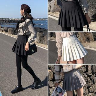 Юбки,  [ весна иметь ] талия плиссированная юбка женский осенний зима юбка лето студент большой черный код жир mm юбка a слово юбка, цена 608 руб