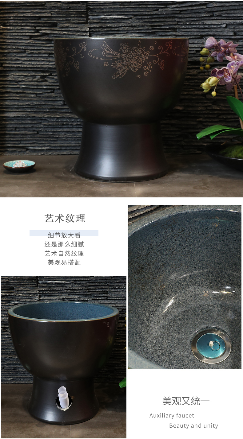 Contracted style ceramic wash mop pool small balcony mop pool toilet mop mop pool mop pool