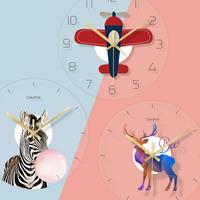 Северные настенные часы, часы, гостиная, домашние часы, личность, творчество модные популярный настоящее время поколение Простая спальня с искусством детские