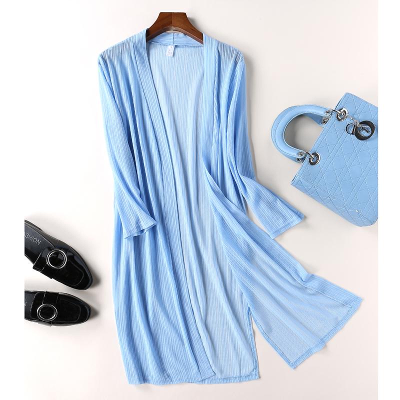 针织罩衫女中长款夏薄款冰丝空调外套衫防晒开衫披肩镂空衫外搭女