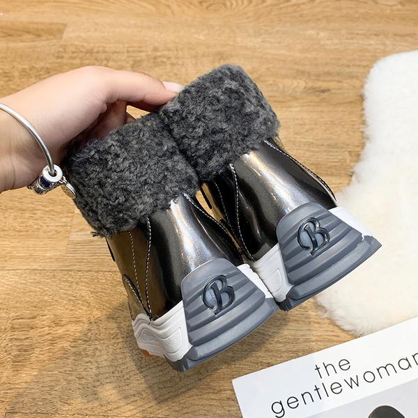С дополнительным слоем пуха сохраняющий тепло мокасины женщина 2020 новинка зимний осеннний дамиан мартин сапоги дикий корейский ботинки высокий elmo обувь