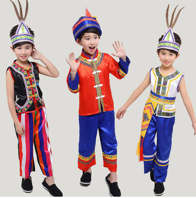 Children's Gaoshan costume 2018 boys, ethnic minority costumes, Gaoshan costumes, costumes and costumes.