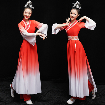 Chinese Folk Dance Costumes Chinese Fan Art Examination of Classical Dance Costume Modern Dance Costume Adult Fairy Han Costume