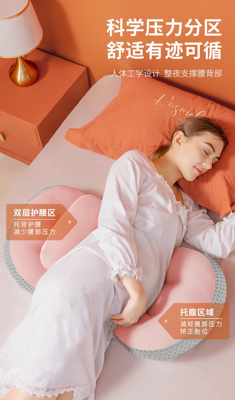 孕妇枕头护腰侧睡枕託腹型抱枕孕期侧卧孕睡觉神器用品夏季专用详细照片