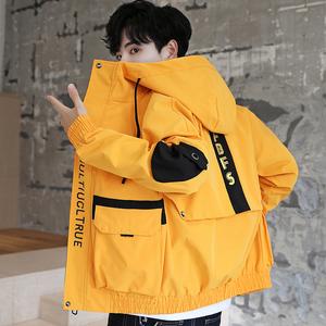 韩版潮流帅气工装夹克春秋季2020年新款休闲棒球衣服男士潮流外套